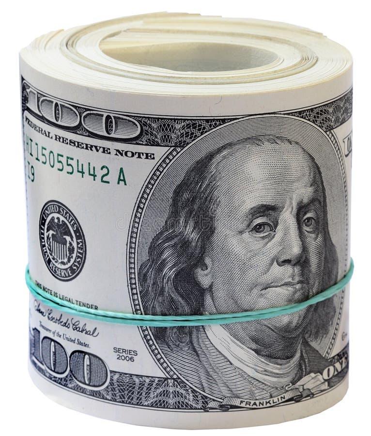 Dólares del rodillo. imagen de archivo