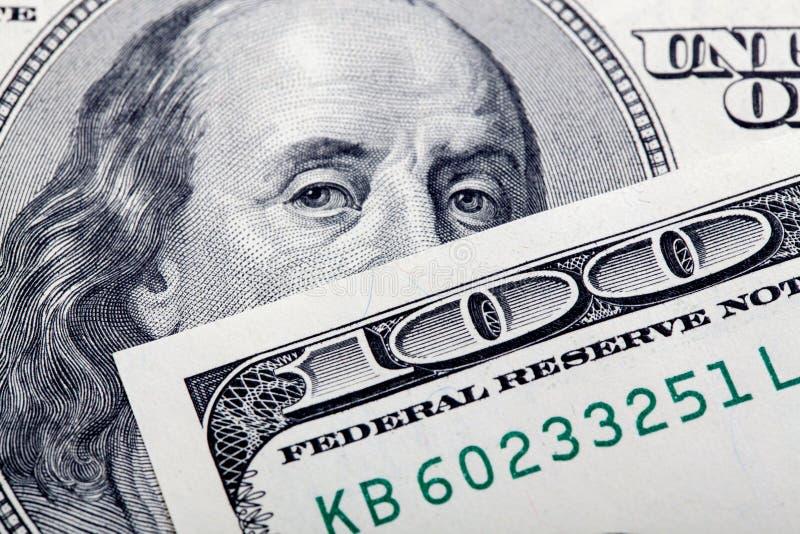 Dólares do close up imagem de stock