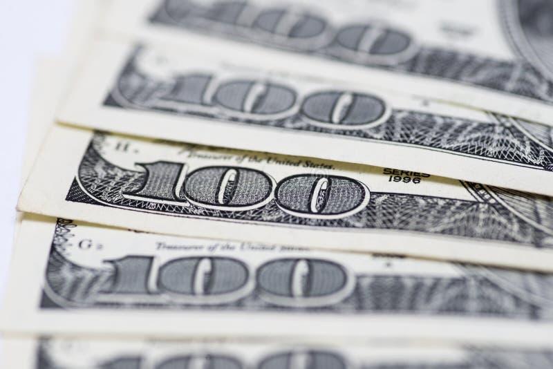Dólares do conceito do close up Dólares americanos do dinheiro do dinheiro fotos de stock royalty free