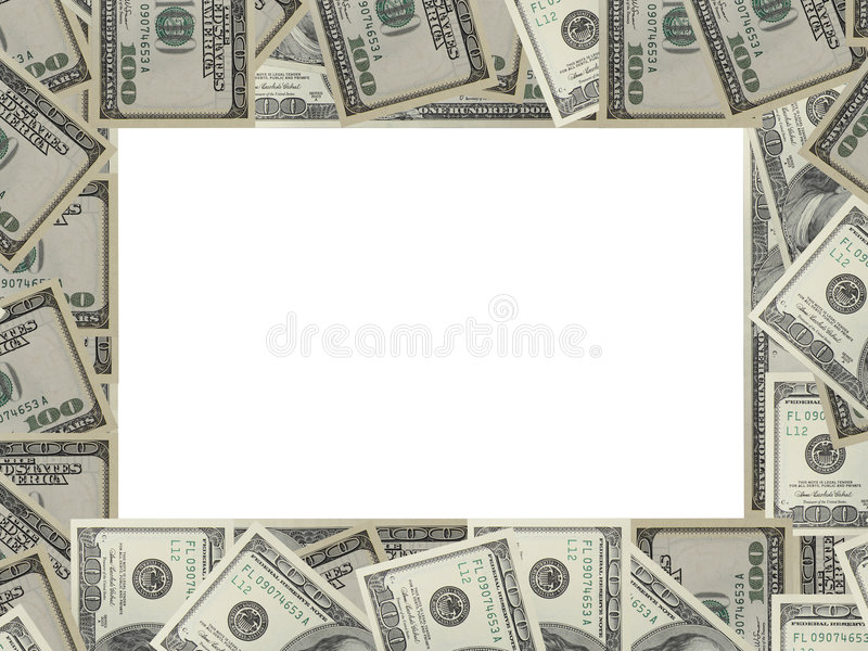 Dólares do frame fotos de stock royalty free