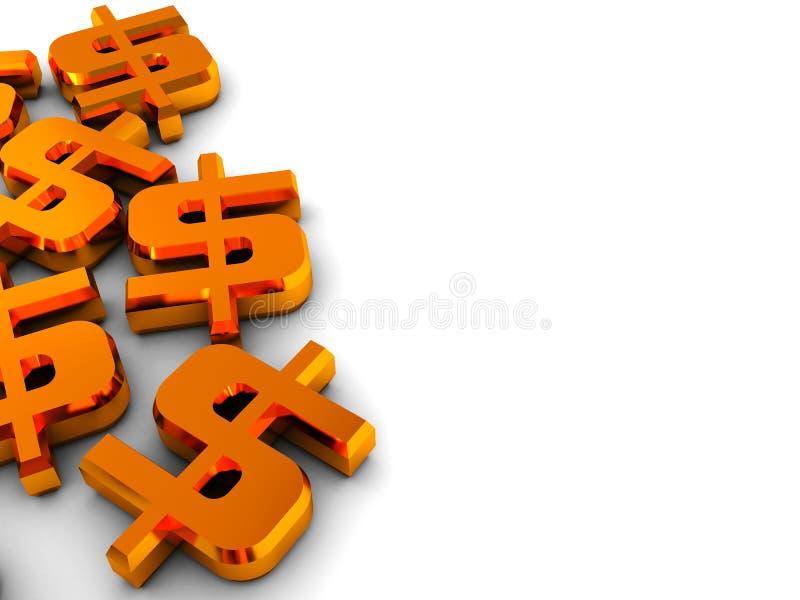 Dólares do fundo ilustração do vetor