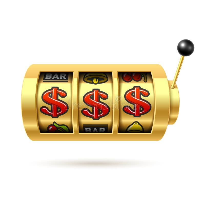 Dólares do jackpot ilustração stock