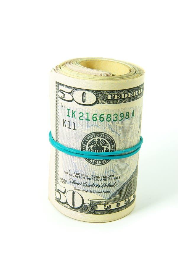 Dólares do rolo fotografia de stock