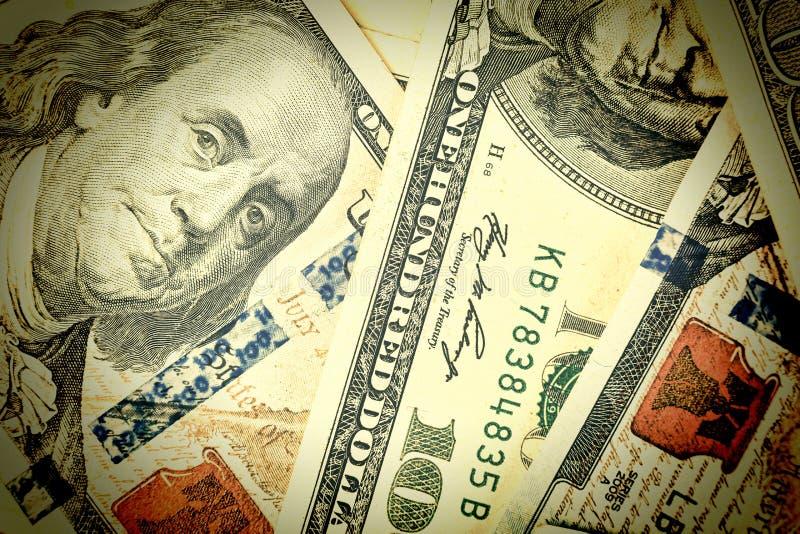 Dólares, 100 dólares, dólares dos EUA, cédulas, financeiras, dinheiro, f fotos de stock