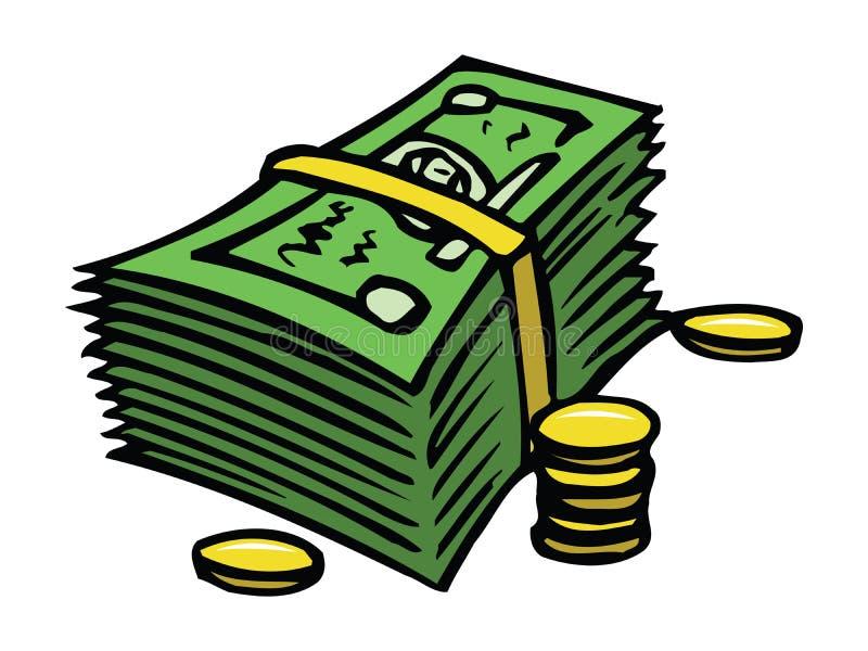 Dólares e centavos ilustração do vetor