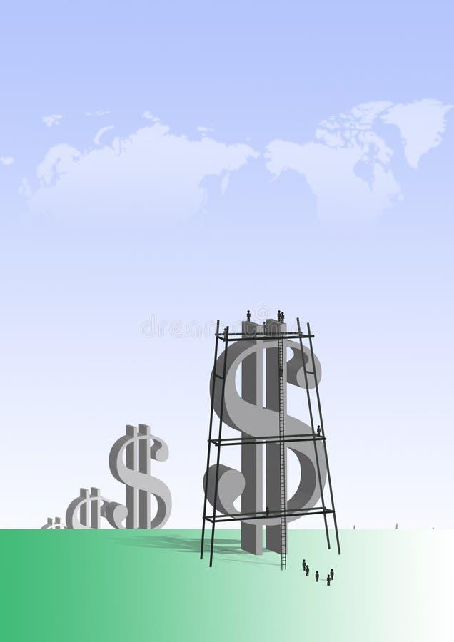 Dólares grandes ilustração royalty free
