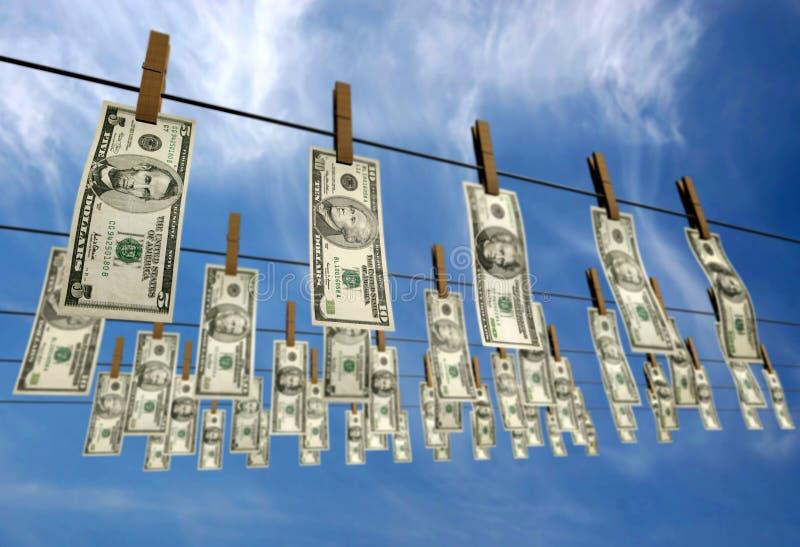 Dólares lavados ilustração stock