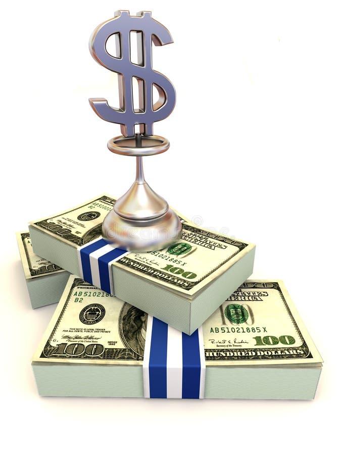 Dólares. Muestra ilustración del vector