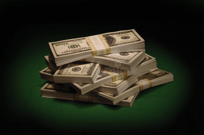 Dólares no verde foto de stock royalty free