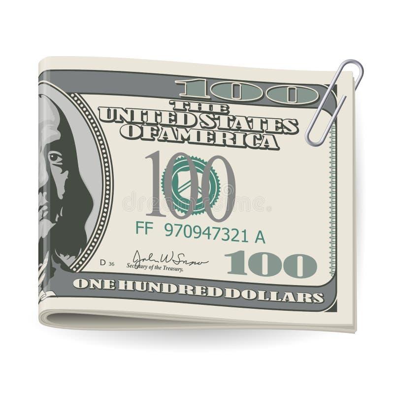 Dólares plegables ilustración del vector