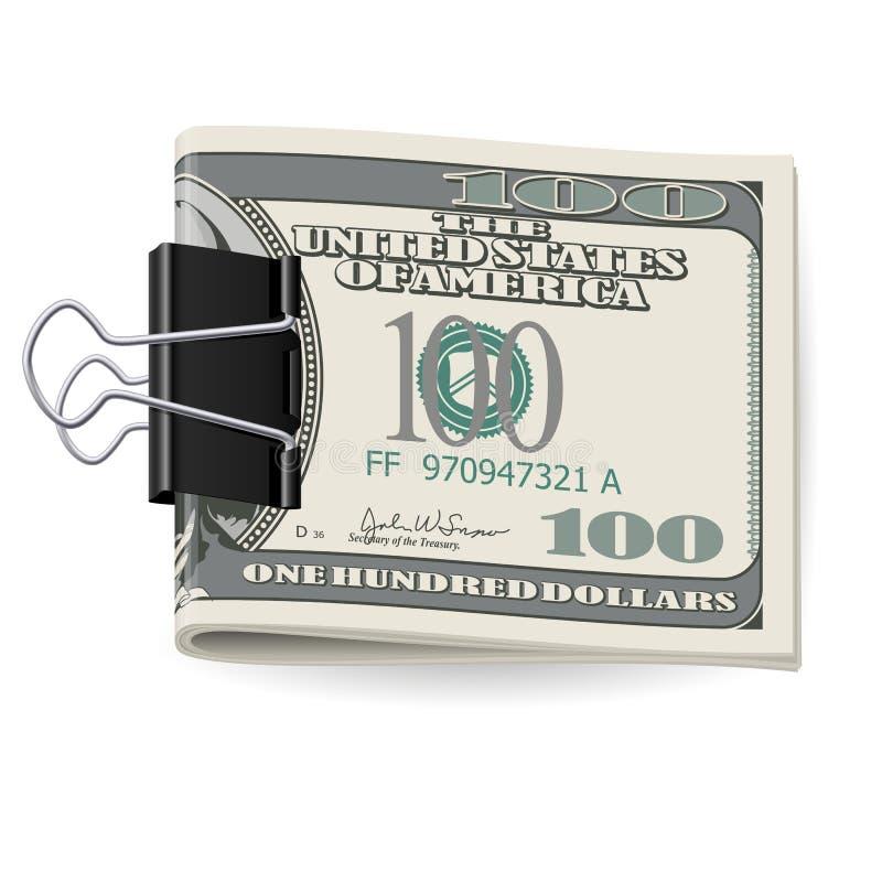 Dólares plegables stock de ilustración