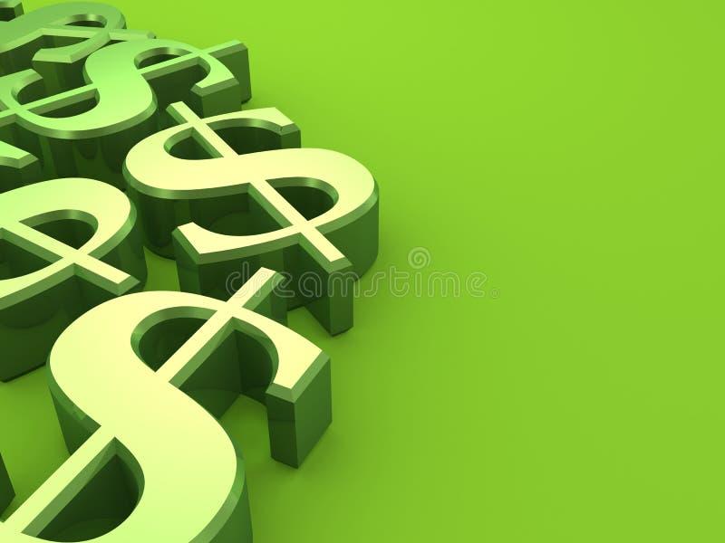 Dólares verdes ilustração do vetor