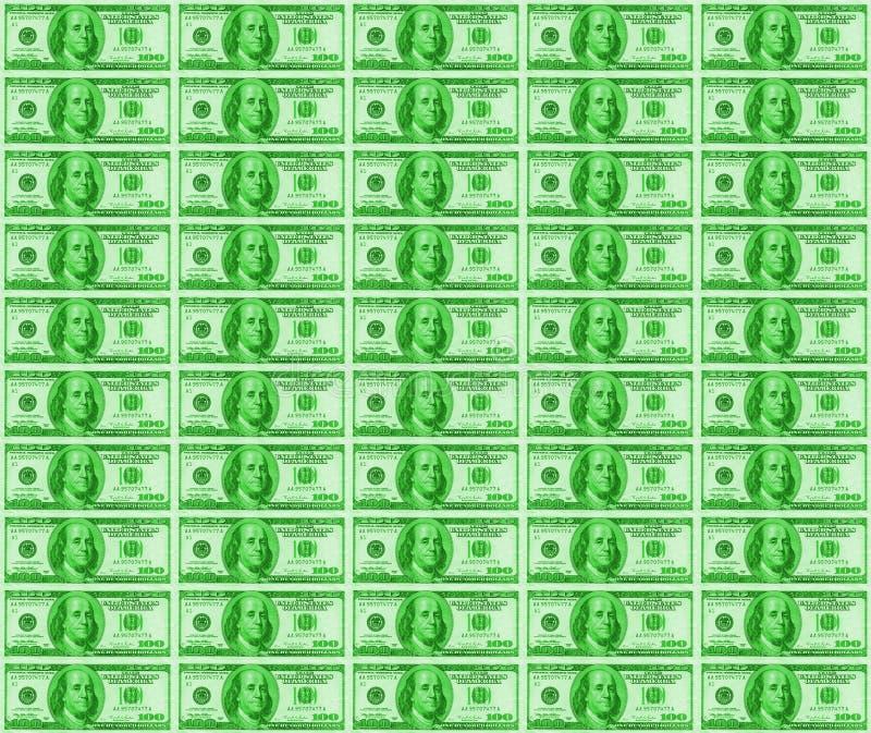 Dólares verdes de fondo foto de archivo