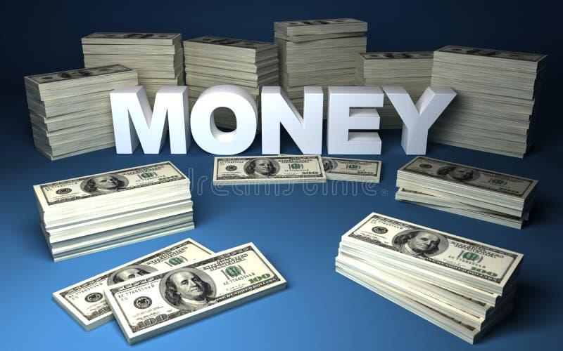 Dólares y dinero stock de ilustración