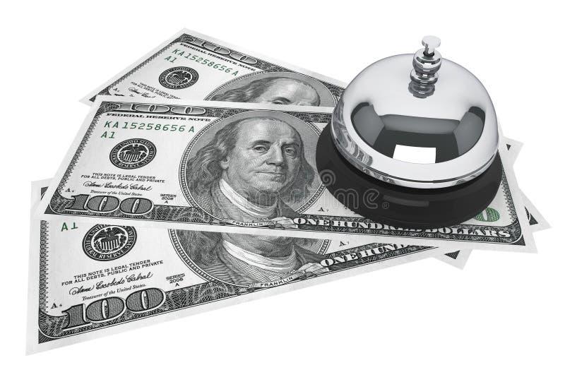 Dólares y servicio Bell libre illustration