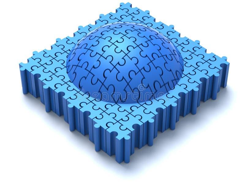 Dôme bleu de puzzle illustration libre de droits