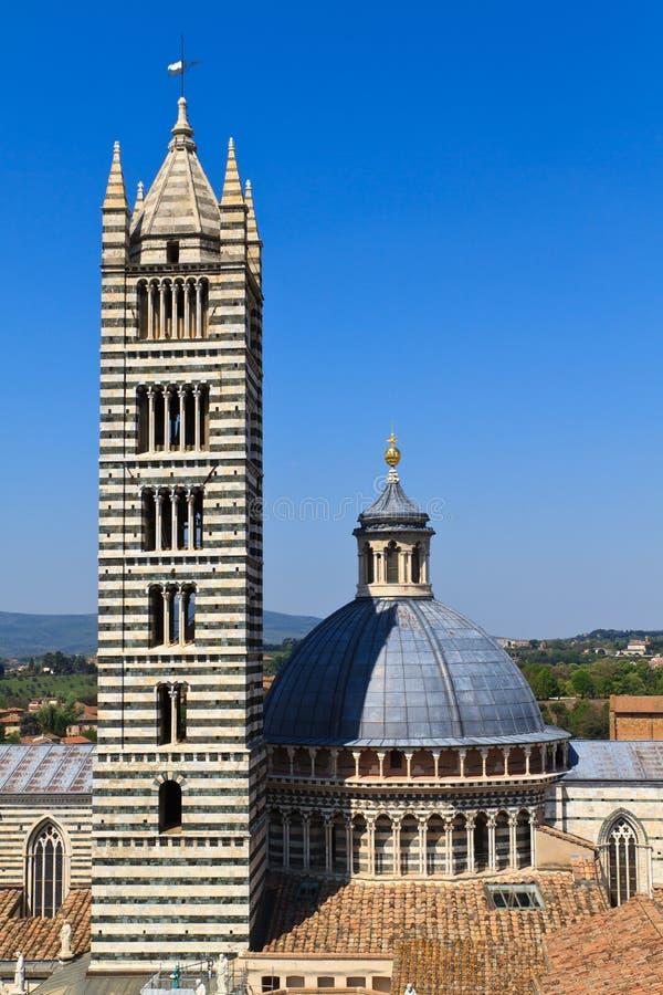 Dôme/cathédrale de Sienne photos stock