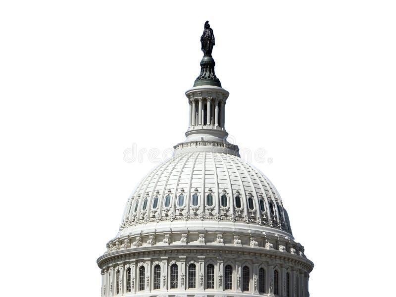 Dôme de capitol des USA d'isolement sur le blanc images stock