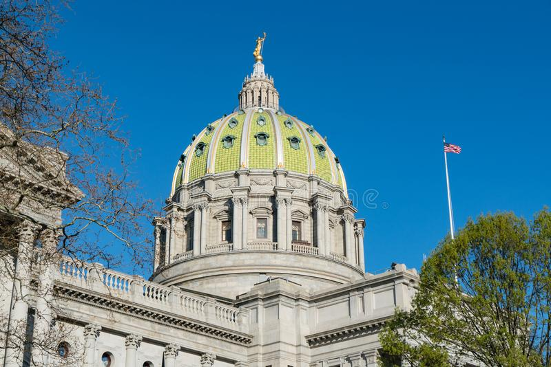 Dôme de capitol de la Pennsylvanie photographie stock libre de droits