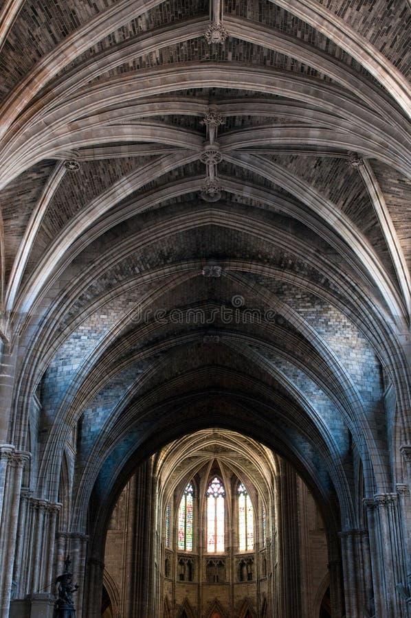 Dôme de cathédrale gothique photo stock