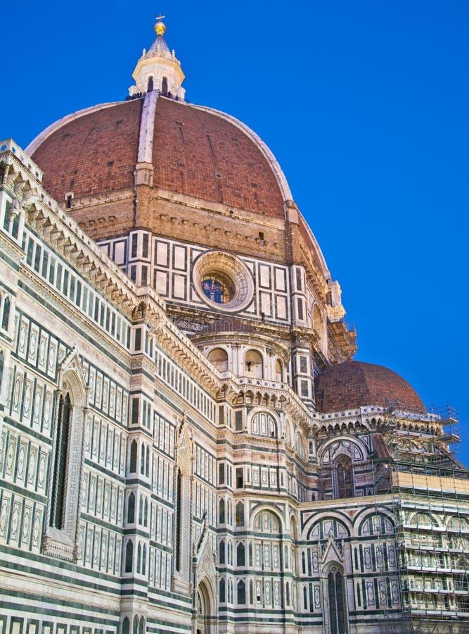 Dôme de Florence de la fin principale de Chatedral de Duomo vers le haut photos libres de droits