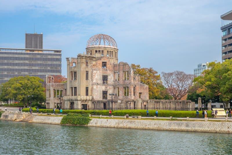Dôme de Genbaku de mémorial de paix d'Hiroshima au Japon photos stock