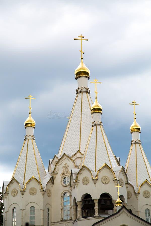 D?me de l'?glise des nouveaux martyres et confesseurs de la r?surrection de la Russie chez le Butovo photos stock