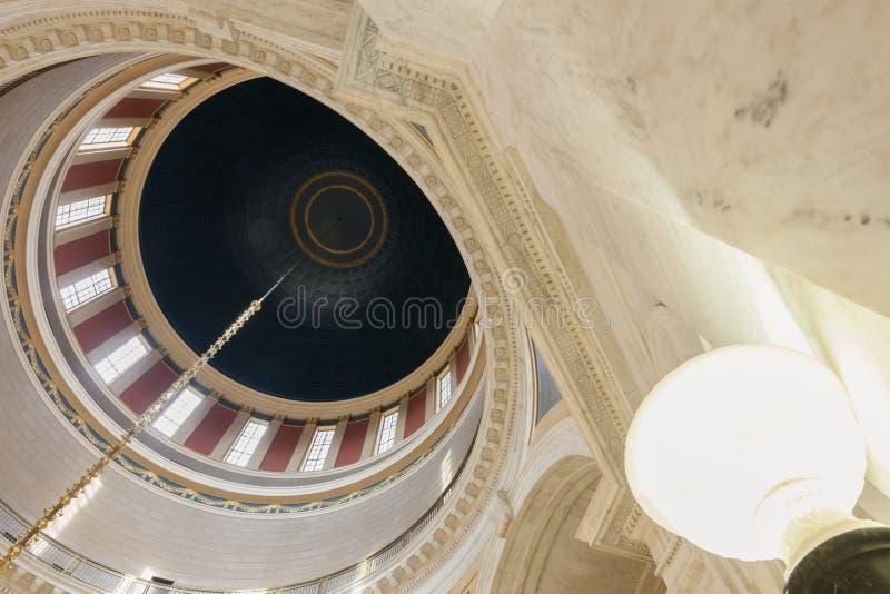 Dôme de la construction de capitol d'état de la Virginie Occidentale images libres de droits