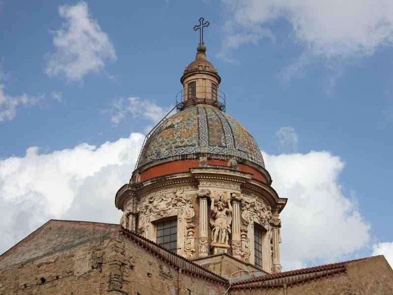 Dôme de Maggiore de carmin, Palerme, SI photographie stock libre de droits