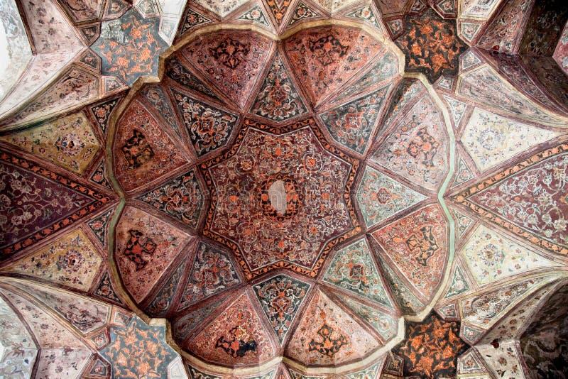 Dôme de palais de Hasht Behesht, Esfahan, Iran image stock