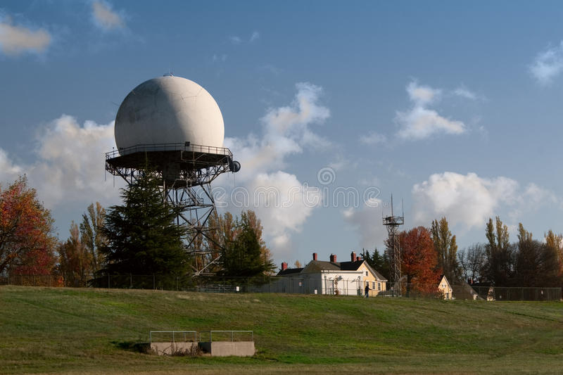 Dôme de radar de FAA à la base de l'armée photo stock