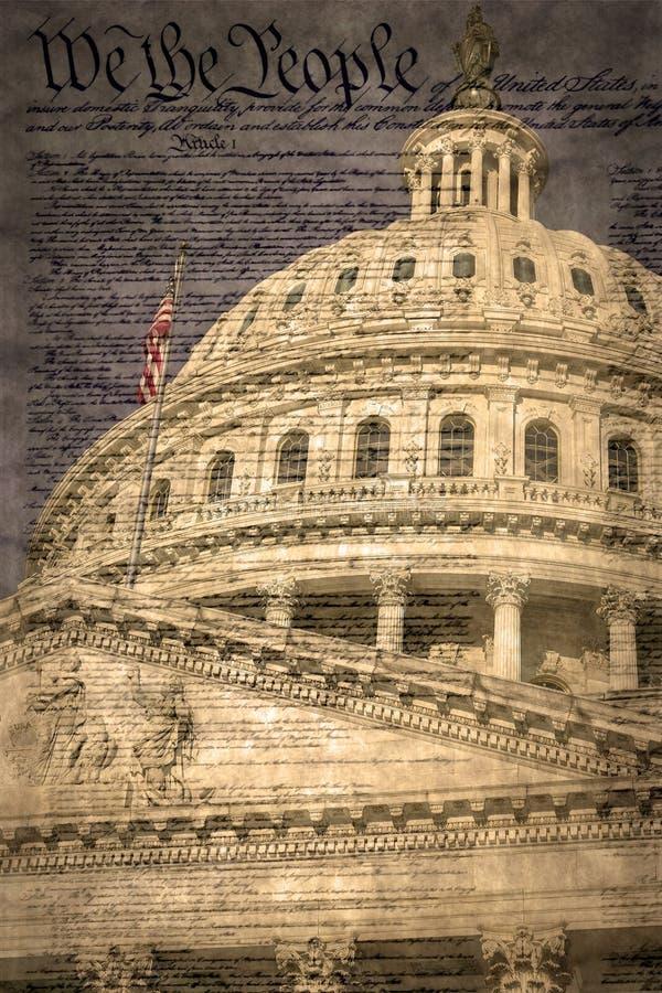 Dôme du bâtiment de capitol des Etats-Unis à Washington D C photos libres de droits