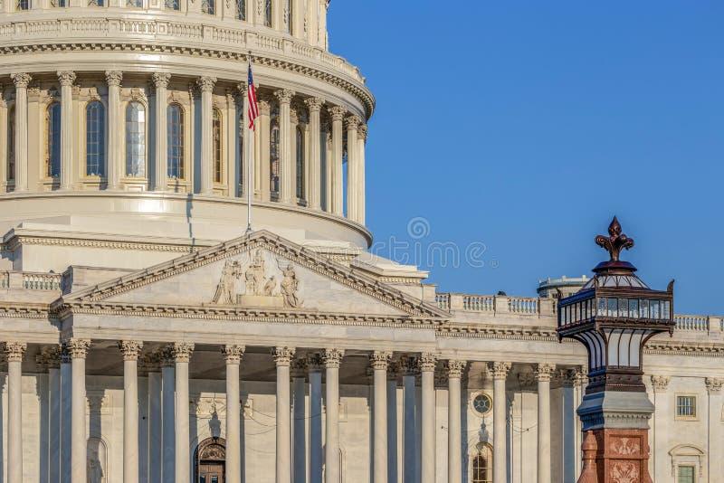 Dôme du bâtiment de capitol des Etats-Unis à Washington D C  photo stock
