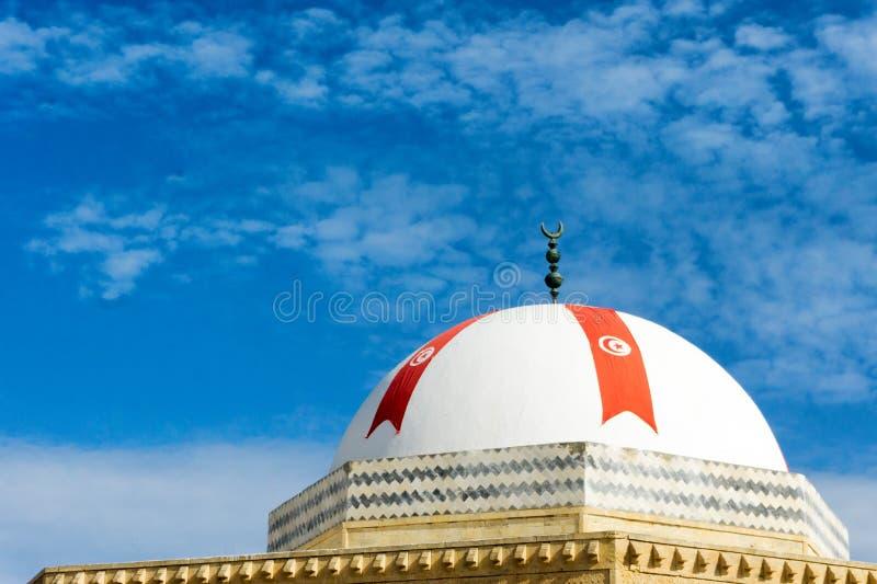 Dôme du bâtiment près du mausolée de Bourguiba dans Monastir, Tunisie image libre de droits