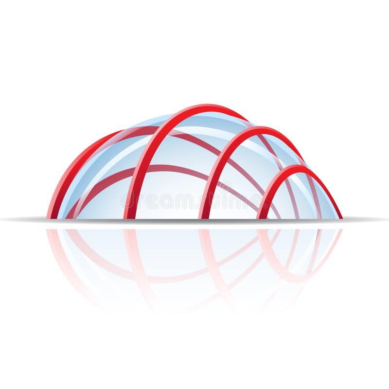 Dôme en verre illustration de vecteur