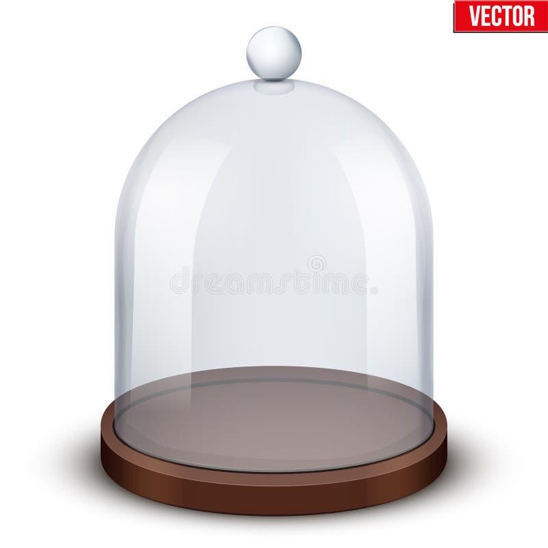 Dôme en verre sur le fond blanc illustration de vecteur