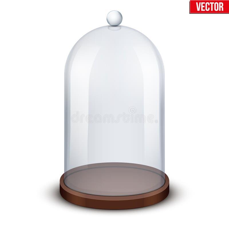 Dôme en verre sur le fond blanc illustration libre de droits