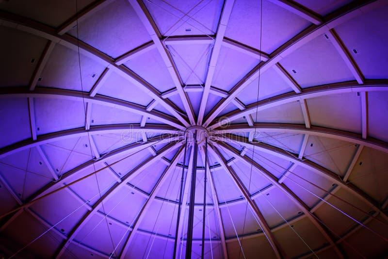 Dôme lumineux du Panthéon de basket-ball à Springfield le Massachusetts photos stock