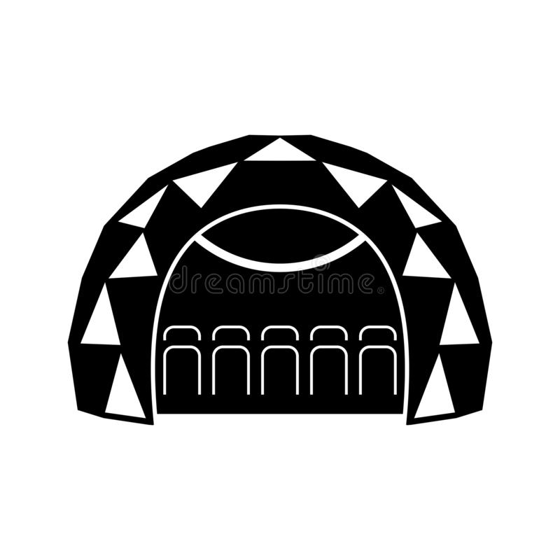 Dôme mobile de planétarium illustration stock