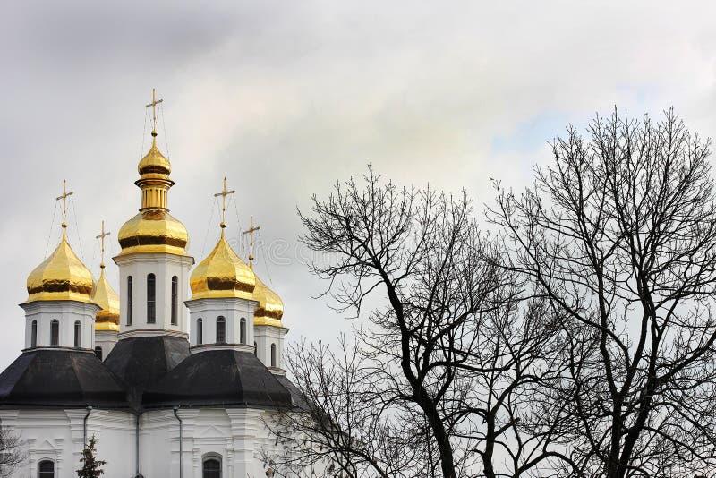 Dômes de l'église Église images stock