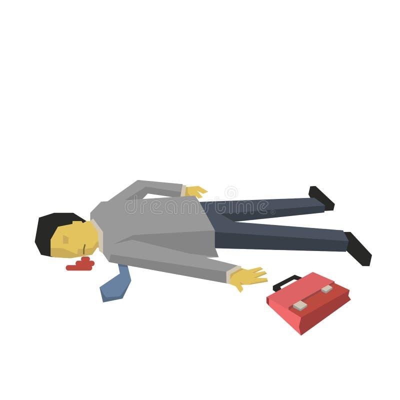 död affärsman stock illustrationer