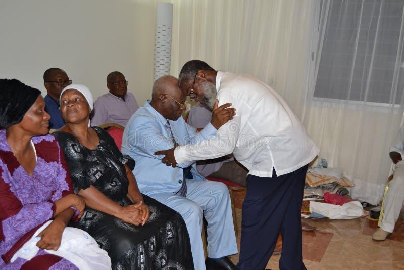 DÖD AV MODERN AV DEN TILLFÖRORDNADE ORDFÖRANDEN AV DEN UTMANANDE FOLKFRAMDELEN IVOIRIAN, FRÅN PRESIDENTEN LAURENT GBAGBO royaltyfria foton