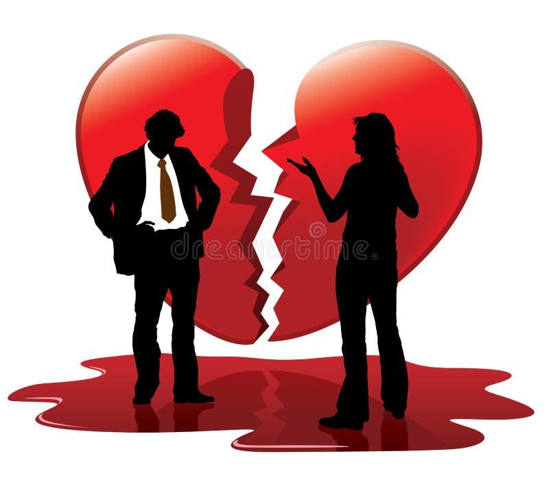 död förälskelse vektor illustrationer