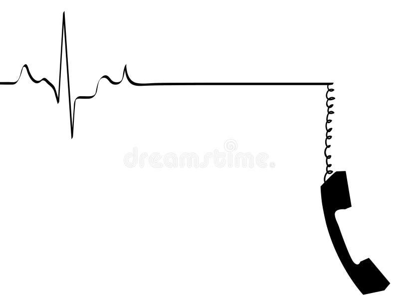 död gående telefon royaltyfri illustrationer
