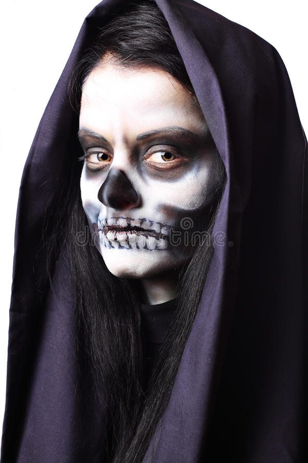död gotisk ståendekvinna royaltyfria foton