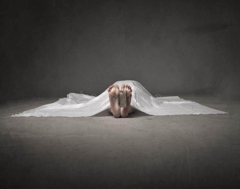 Död kvinnafot royaltyfria foton