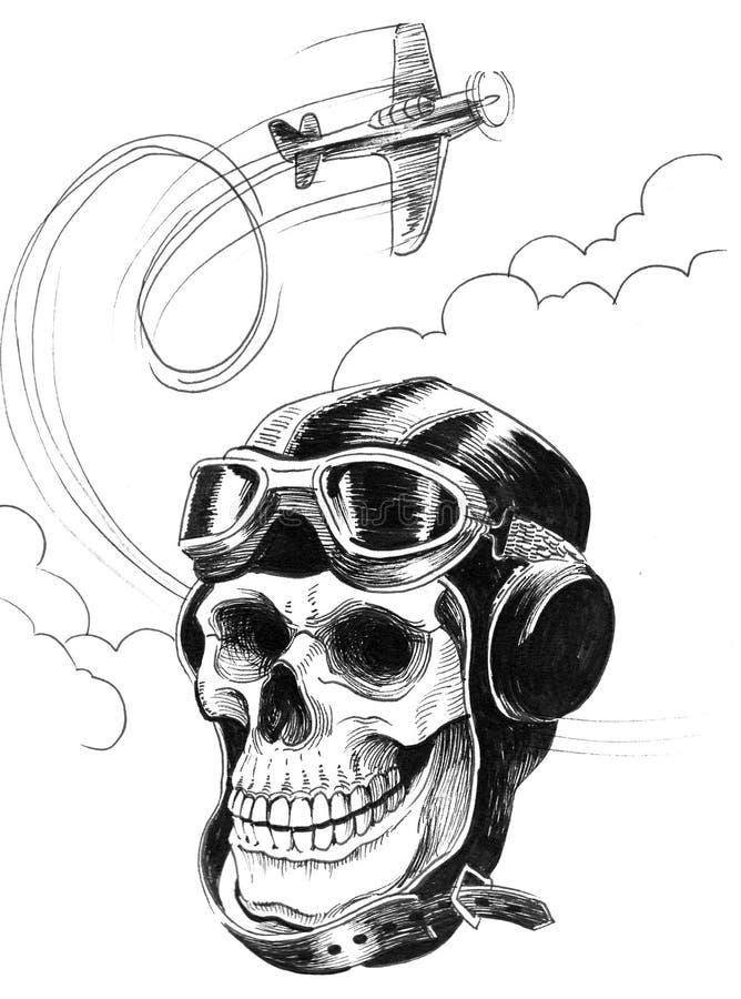 Död pilot- och flygnivå royaltyfri illustrationer