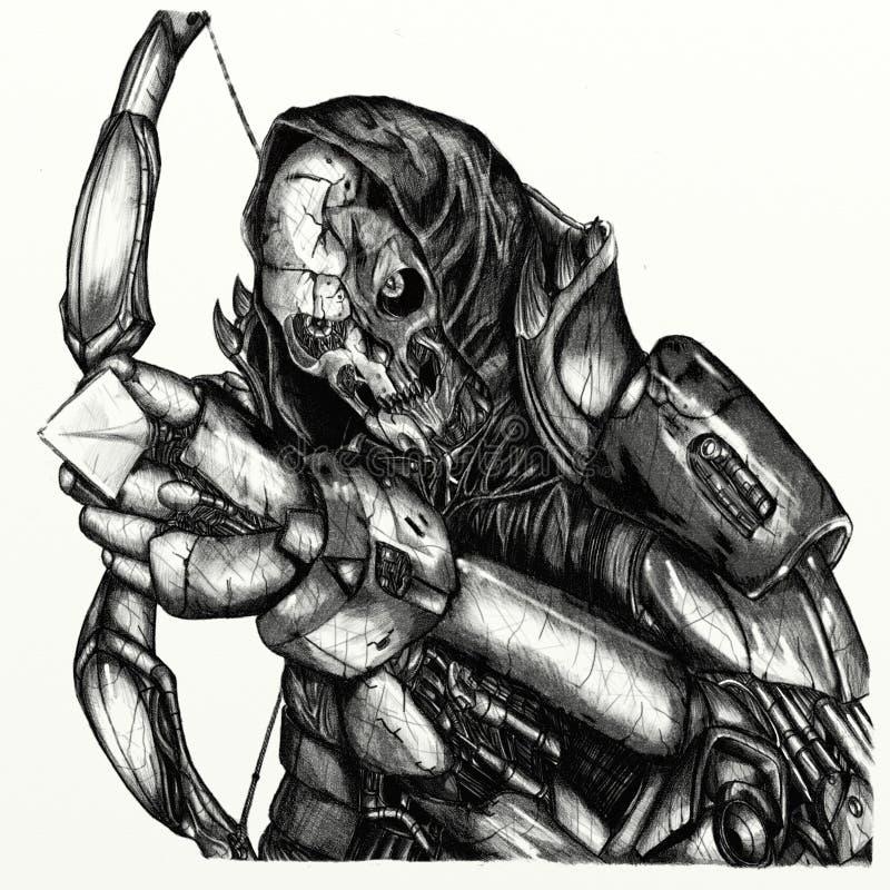 Död robot royaltyfri illustrationer