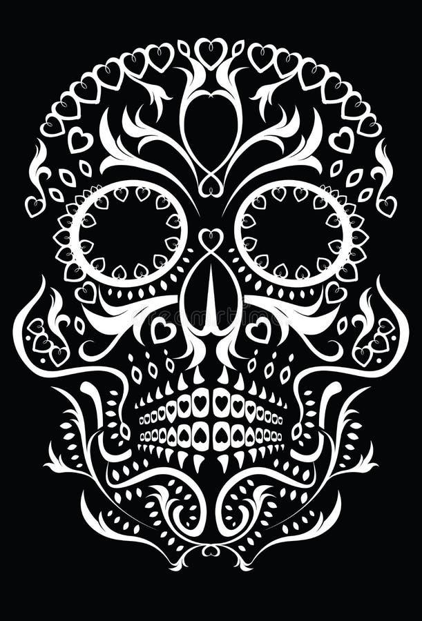 död skalle för dag royaltyfri illustrationer