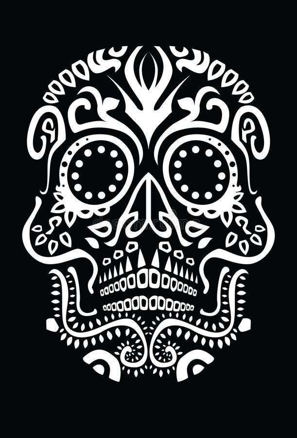 död skalle för dag stock illustrationer